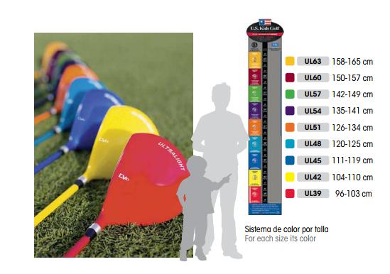 1b1cf1aa1 Set U.S. Kids para niños. Equipo de golf para niños entre 5 y 7 años